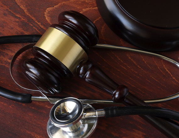 John Henderson Law - Personal Injury Gavel and Stethoscope